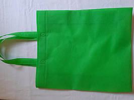 Эко-сумка из спанбонда с петлевыми ручками объемная 35*45*15 см Одетекс салатовая