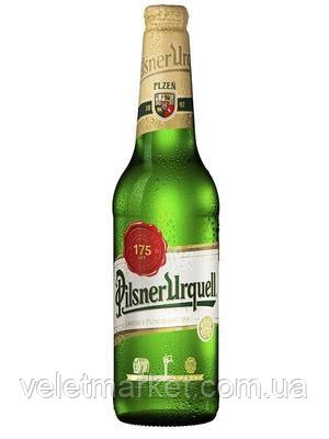 "Чеське пиво Пілснер ""Pilsner Urquell ležák"" світле 0,5 л"