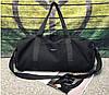 Сумка мужская спортивная вместительная в наборе с косметичкой, черная, опт