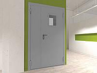 Двері DoorHan двостулкові протипожежні засклені DPO60/1250/2050/7035/L/N