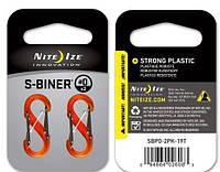 Набор карабинов Nite Ize S-Biner Plastic Size 0 Translucent orange NI624