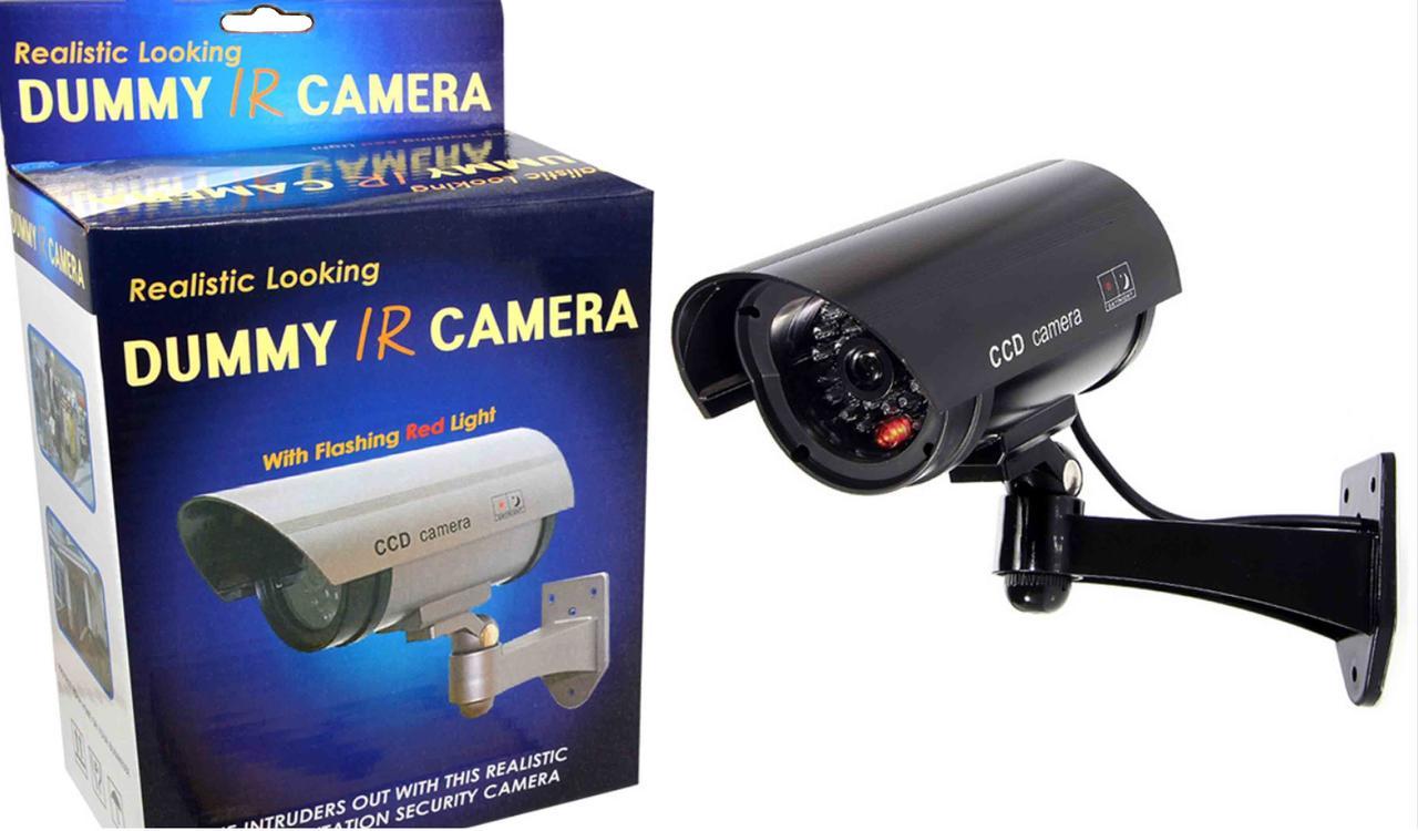 Муляж камеры видеонаблюдения с мигающим светодиодом, водонепронецаемый морозоустойчивый.