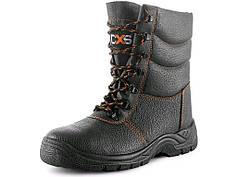Ботинки комфортабельные кожаные защитные STONE TOPAZ S3, зимние, черные