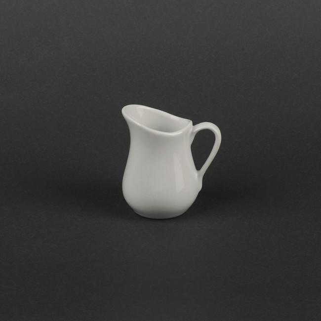 Молочник фарфоровый белый 120мл