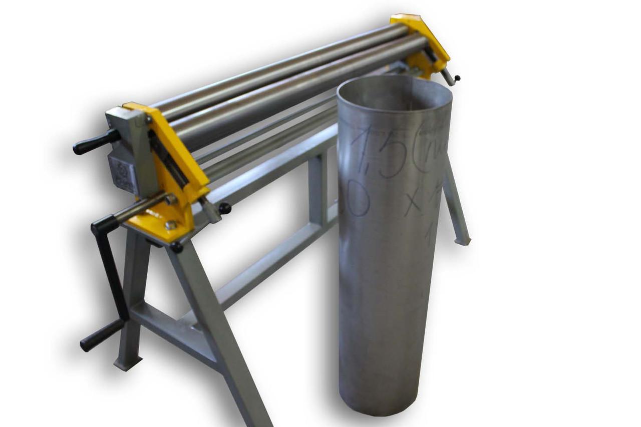 Вальцовочный станок для листового металла | Листогиб трехвалковый ручной ВР-1300x1,5 PsTech