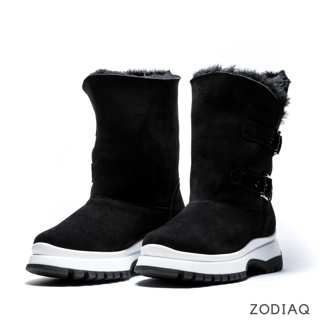 Ботинки женские зимние замшевые натуральный мех b8978-11s размер 36 - 23.5см