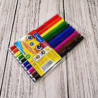 """Фломастеры """"Marco"""" №1690/10, 10 цветов, набор фломастеров для рисования на водной основе."""