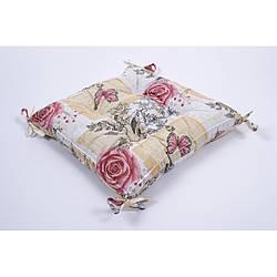 Подушка на стул Lotus 45*45 - Niona с завязками персиковый