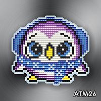 Набір для викладки алмазними стразами Магніт дитячий АТМ26 Пінгвіненя