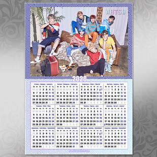 Плакат Календарь BTS