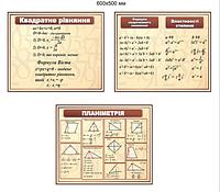 Комплект плакатов Для кабинета математики.
