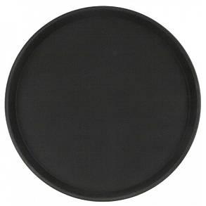Поднос не скользящий чёрный прорезиненный Helios 45 см 7383/1, фото 2