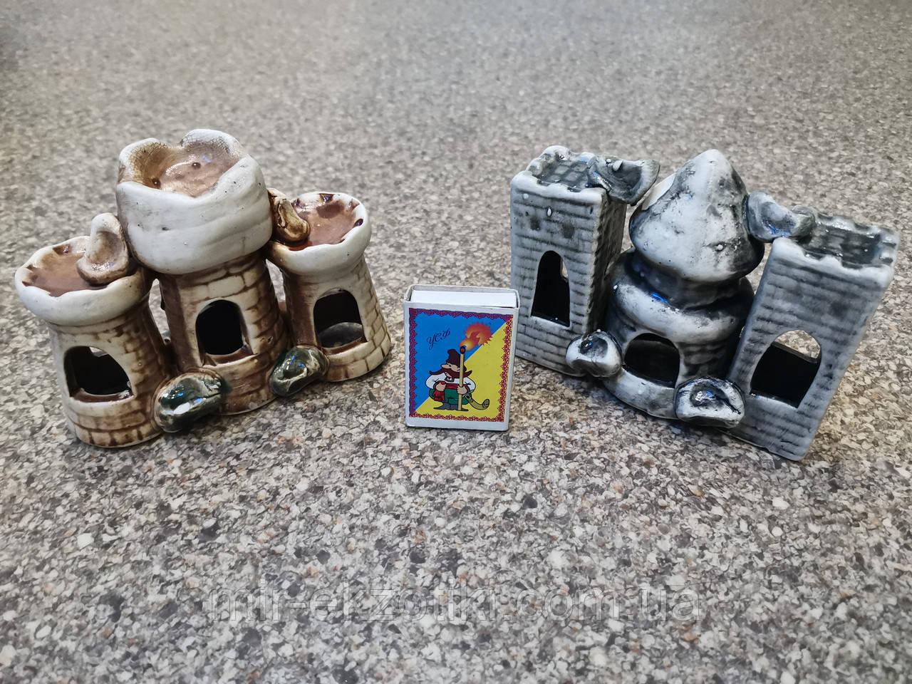 С373 Керамическая декорация для аквариума Башня тройная