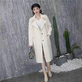 Удлиненное меховое пальто Китай 46-48 ( в расцветках)