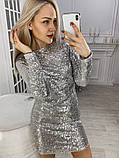 Платье черное пайетки серебро, фото 6