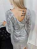 Платье черное пайетки серебро, фото 7