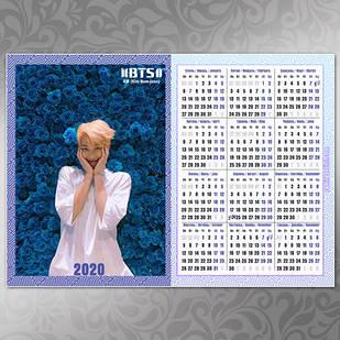 Плакат Календарь BTS 004