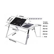 Столик-подставка для ноутбука E-Table с охлаждением и регулировкой наклона и высоты, фото 3