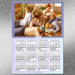 Плакат Календарь BTS 007