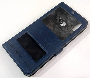 Чехол книжка Momax с окошками для Huawei Honor 8X Синий