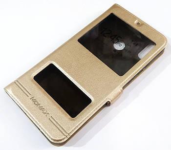 Чехол книжка Momax с окошками для Huawei Honor 8X Золотистый