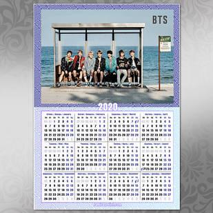 Плакат Календарь BTS 013
