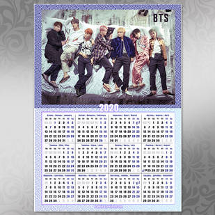 Плакат Календарь BTS 018