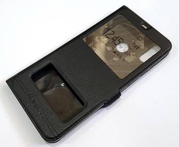 Чехол книжка с окошками momax для Huawei Honor 8C черный