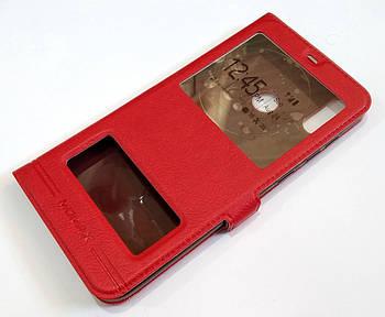 Чехол книжка с окошками momax для Huawei Honor 8C красный