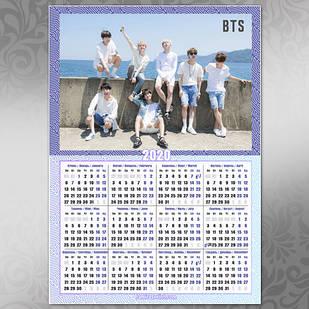 Плакат Календарь BTS 030