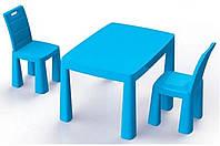 Стол и 2 стульчика 2в1 + хоккей, Doloni, детский пластиковый столик и стульчики-табуреты Долони
