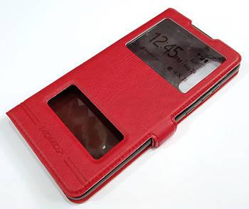 Чехол книжка с окошками momax для Huawei P30 Красный