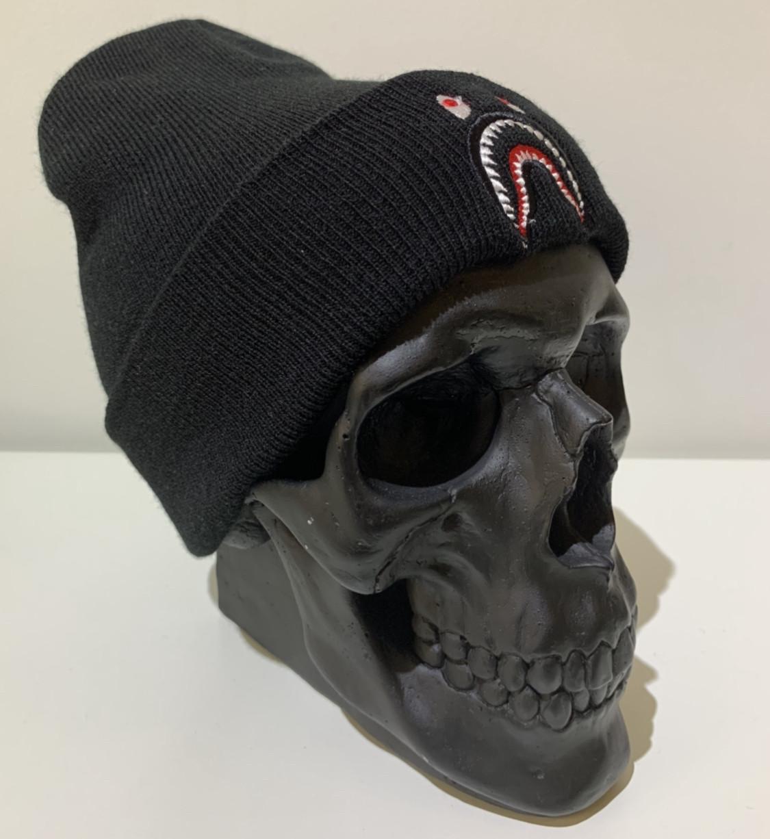 Шапка мужская Bape классическая с логотипом - ❄️ Winter ❄️ Черная