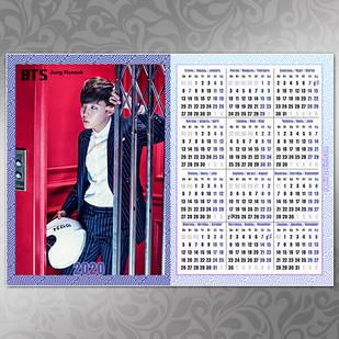 Плакат Календарь BTS 046
