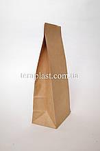 Пакет бурый крафт с дном 110х60х270