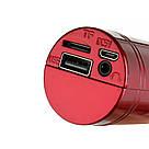Беспроводной караоке микрофон WSTER WS-1816 красный, фото 5