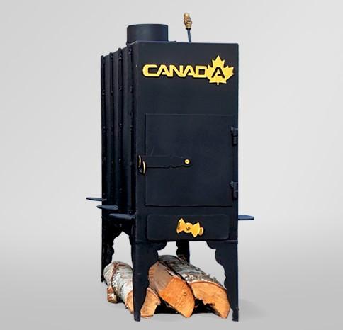 Печь дровяная Canada длительного горения дымоход