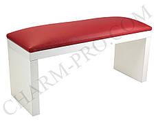 Маникюрная подставка для рук (Подлокотник) Красная на белых ножках