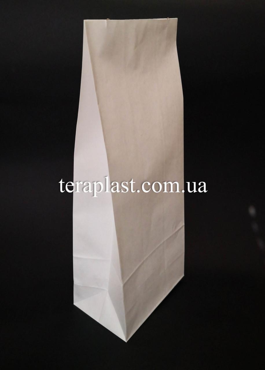 Пакет белый крафт с дном 70х40х190