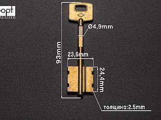 ЧИЗА-1 (Конаково) заготовка ключа