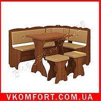 Кухонный уголок Лорд (стол раскладной+диван+2 табурета)