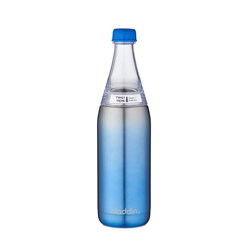 Термобутылка 0,6 л синяя Fresco Twist&Go Aladdin (6939236337182)