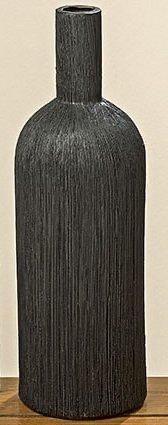 """Ваза пляшка"""" чорна декоративна"""