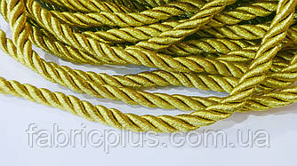 Шнур мебельный 10 мм золото люрекс (нит. трикотаж.)