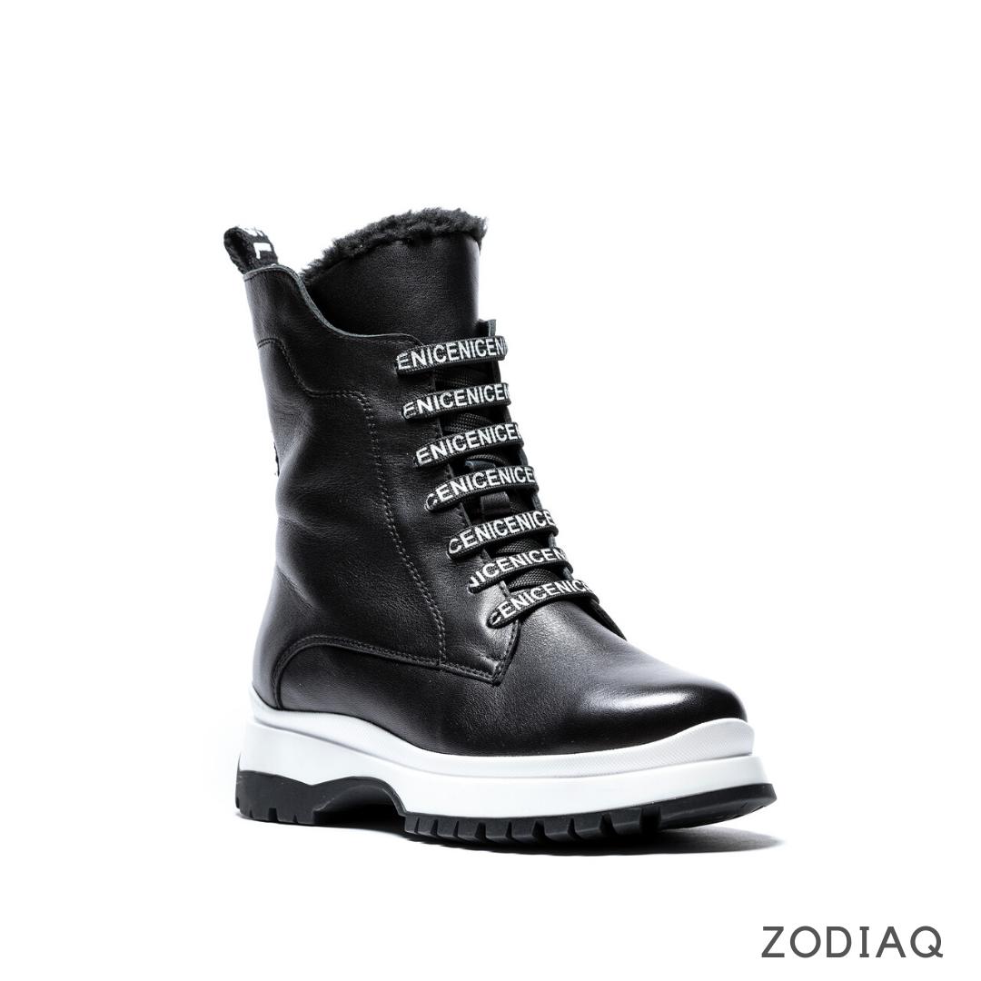 Ботинки женские зимние кожаные на шнурках b 8977-2s 37 - 24.2см