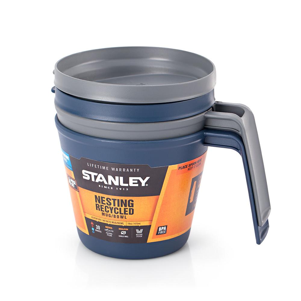 Термокружка 0,47 л 2шт. Stanley eCycle AdventureBlue 029STY (4823082708222)