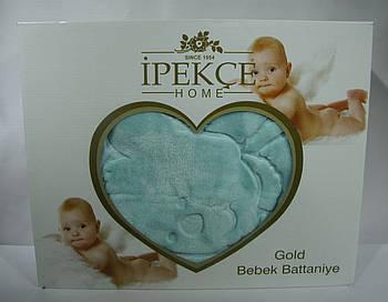 Плед Ipekce Home Микрофибра 100x120 см Голубой (100120blue1)