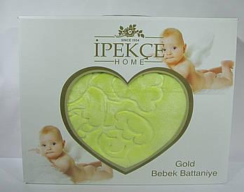 Плед Ipekce Home Микрофибра 100x120 см Зеленый (100120green)