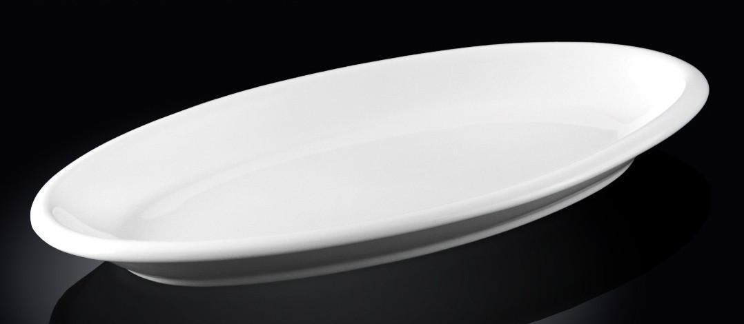 Блюдо сервировочное Wilmax овальное белое 26 см