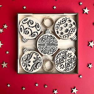 Набір ялинкових прикрас Merry Christmas